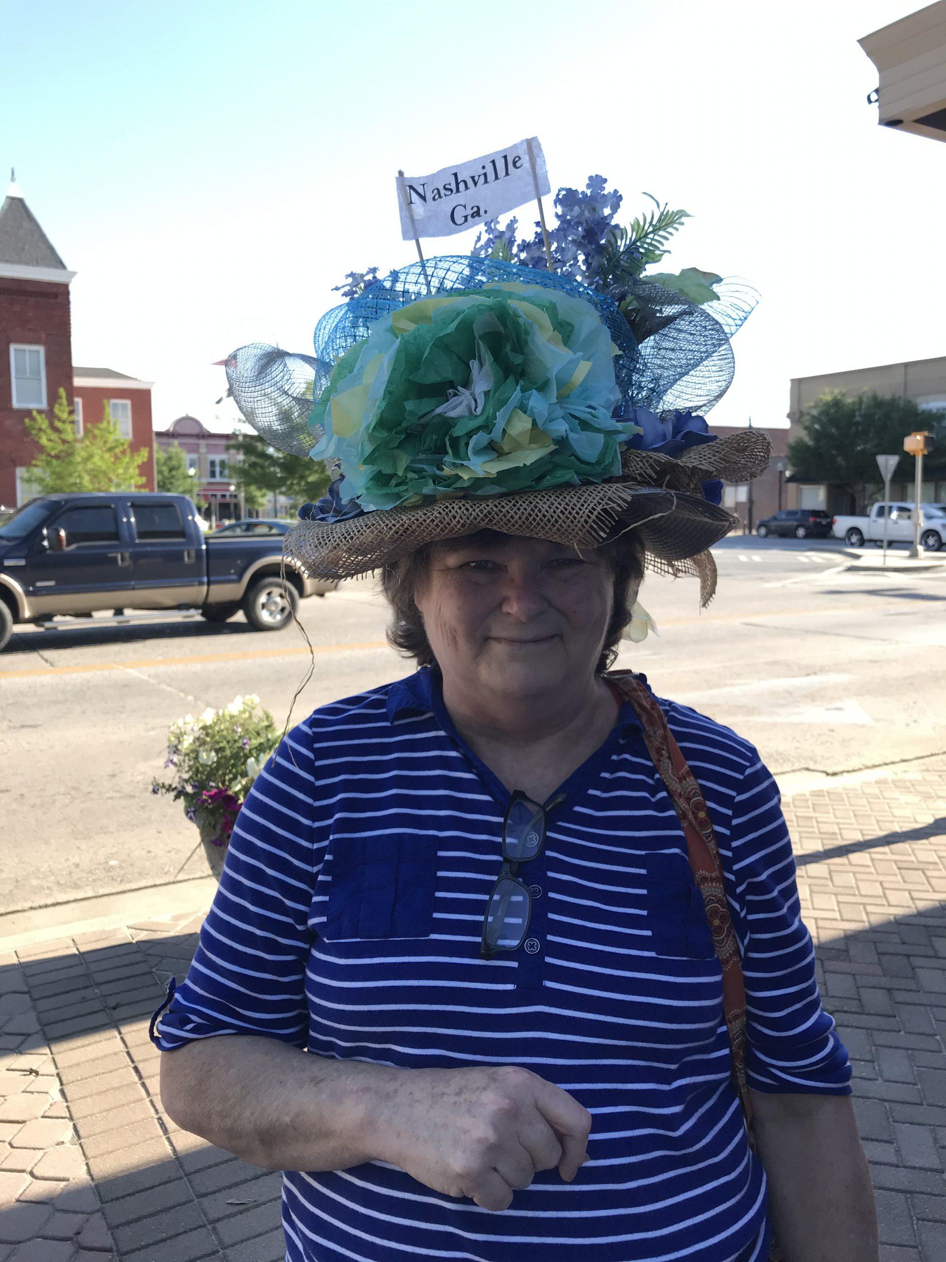 Beautiful bonnet in Main Street's Derby Day!